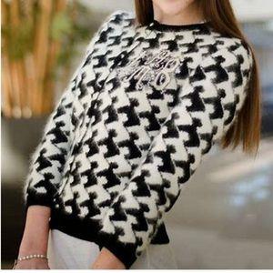 Gwen Stefani $359 L.A.M.B. Houndstooth Sweater S
